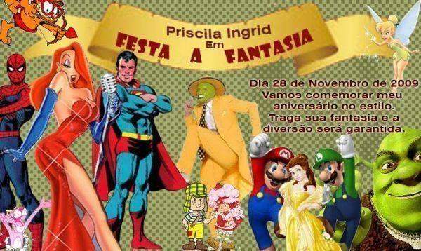 Convite Festa à Fantasia