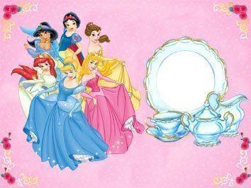 Convite para Aniversário das Princesas Disney