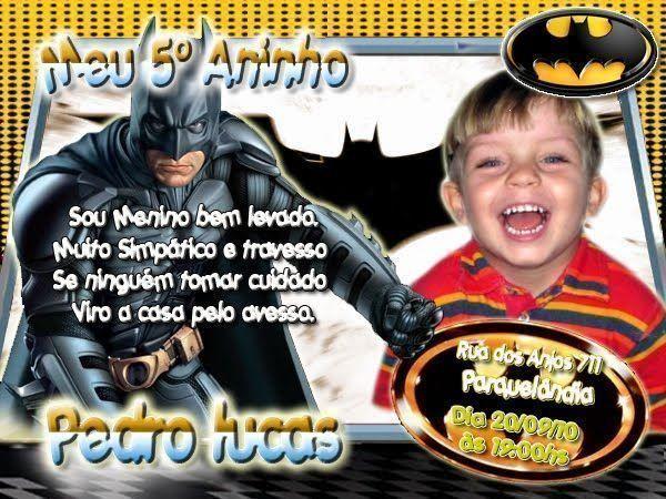 33 Convites de Aniversário do Batman: Incríveis!