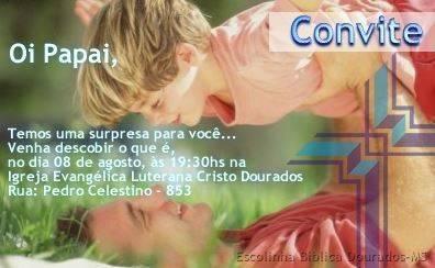 Convite de Dia dos Pais