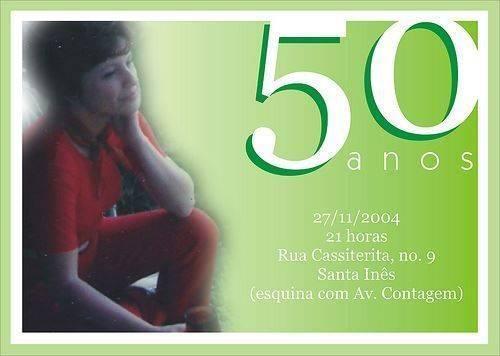 Convites Para Aniversário De 50 Anos Modelos De Convite