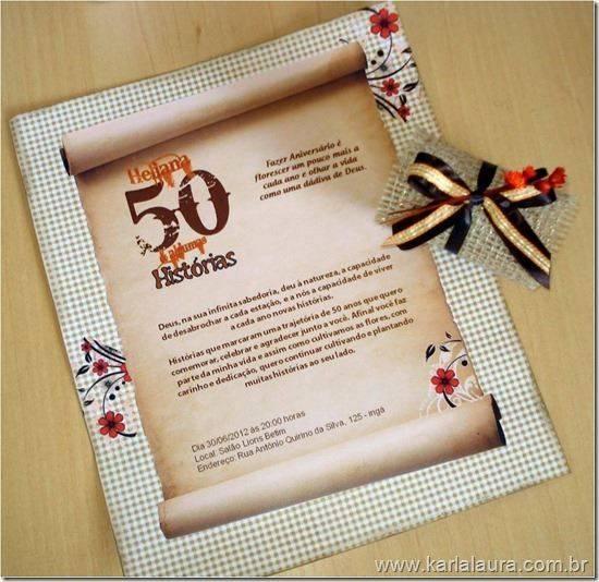 Convites Para Aniversario De 50 Anos Modelos De Convite