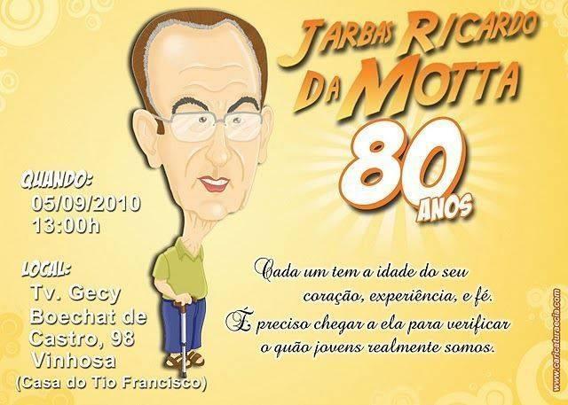 Convite De Aniversario 80 Anos 5 Modelos De Convite