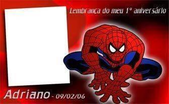 Convite de ANiversário do Homem Aranha