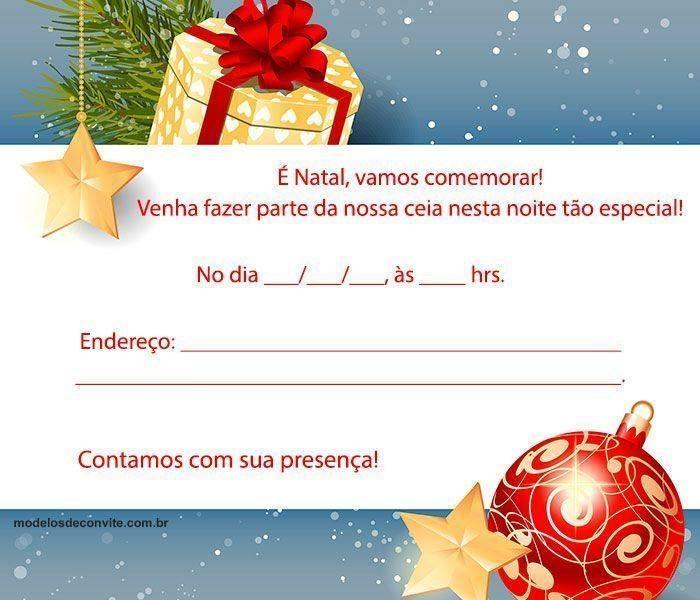 35 Convites De Natal Para Ceia E Confraternização Modelos