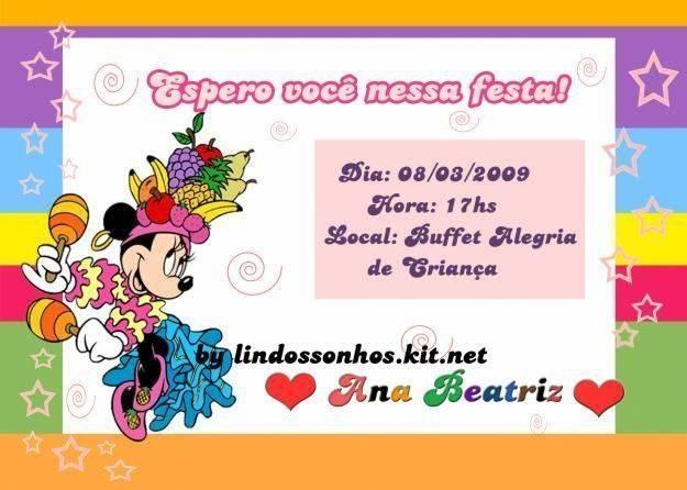 convite de aniversario infantil : Convite De Aniversario Infantil 12 Car Interior Design