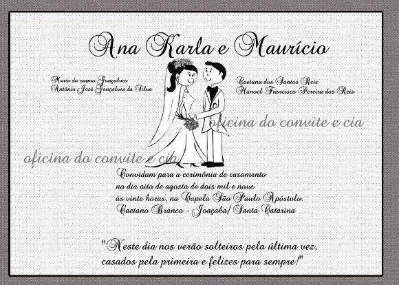 Convites de Casamento de Caixinha