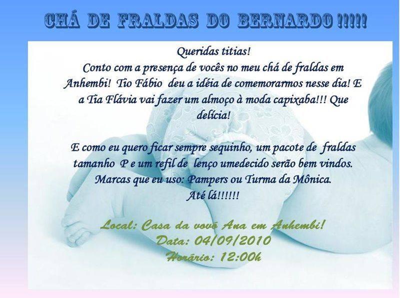 Convite De Cha De Bebe 23