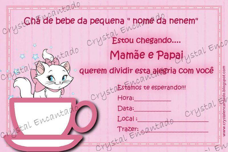Convite De Cha De Bebe 8 Convite De Cha De Bebe 10