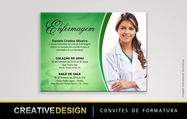 Convites De Formatura De Enfermagem Modelos De Convite
