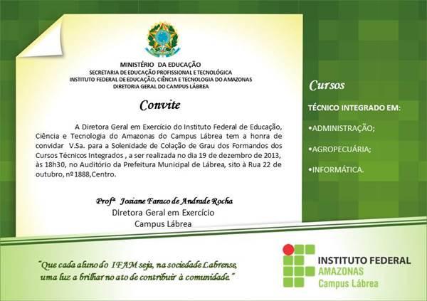 Convites De Formatura Do Ensino Médio Modelos De Convite
