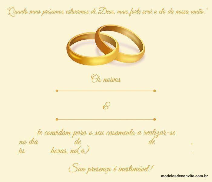 Convite De Casamento Evangélico Como Fazer O Modelo Ideal