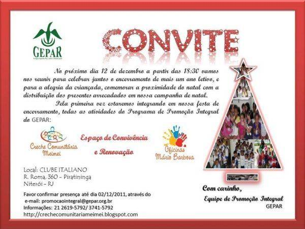 Convite para Festa de Natal da Empresa
