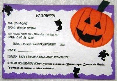Convite de Festa de Halloween