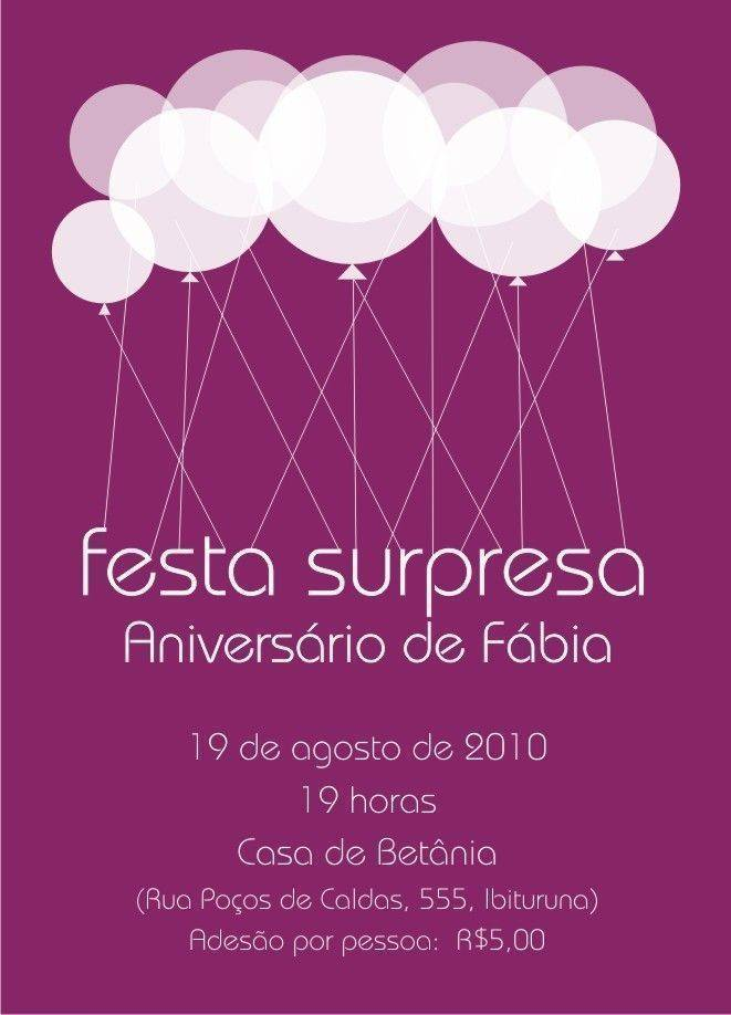 Aniversario Surpresa 12 Modelos De Convite