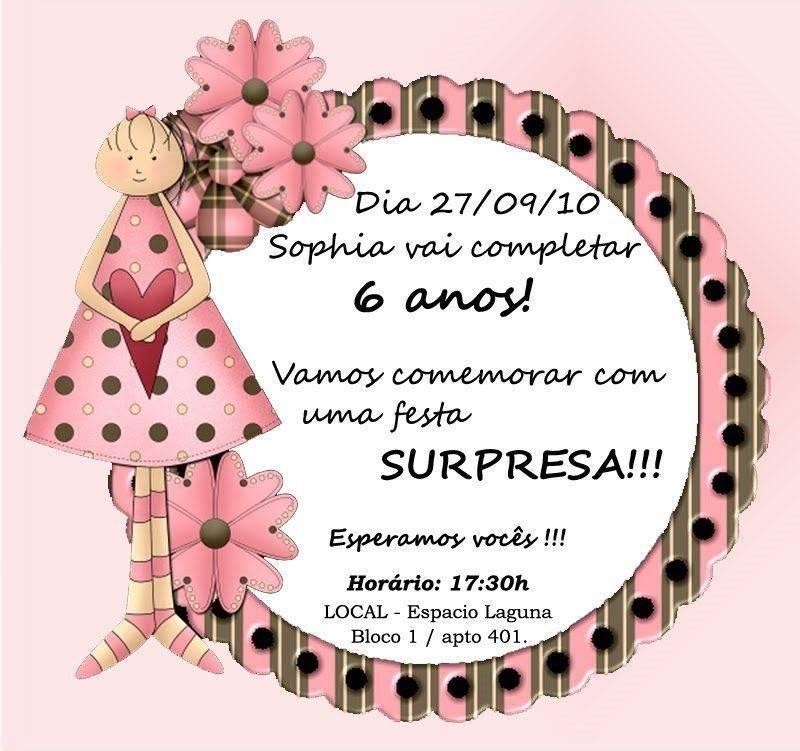Aniversario Surpresa 4 Modelos De Convite