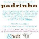 Convite Para Padrinhos De Batismo Batizado Modelos De Convite