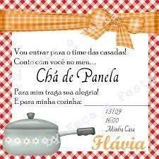 Convite Chá De Panela 2 Modelos De Convite