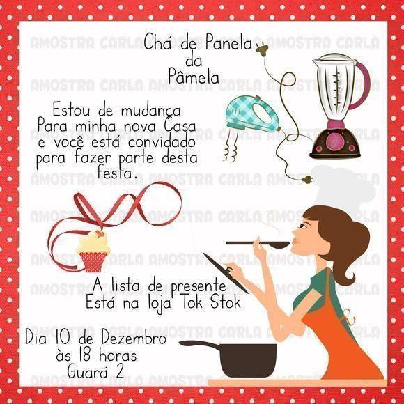 Convite Cha De Panela