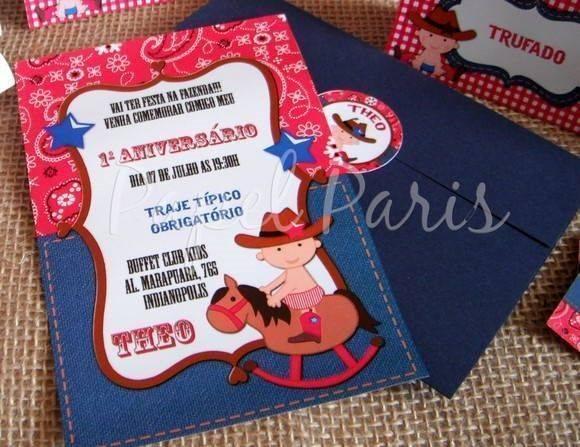 Convite de Festa Country