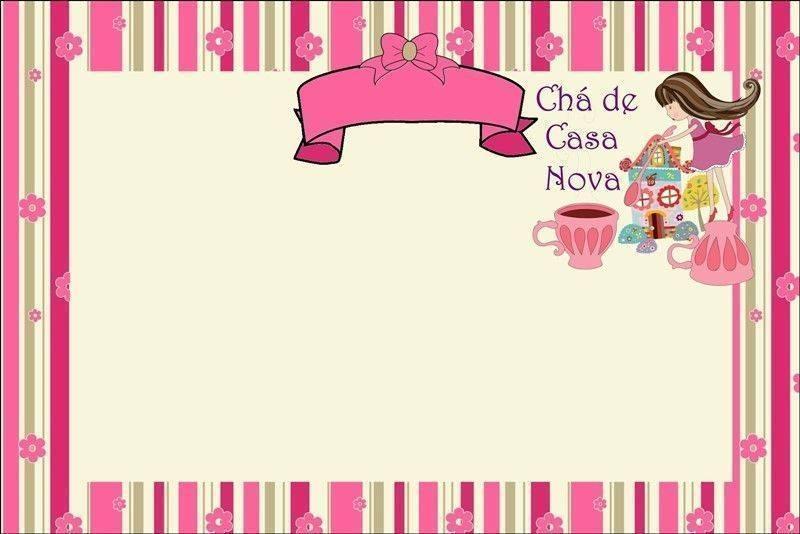 Convite Cha Casa Nova Modelos De Convite