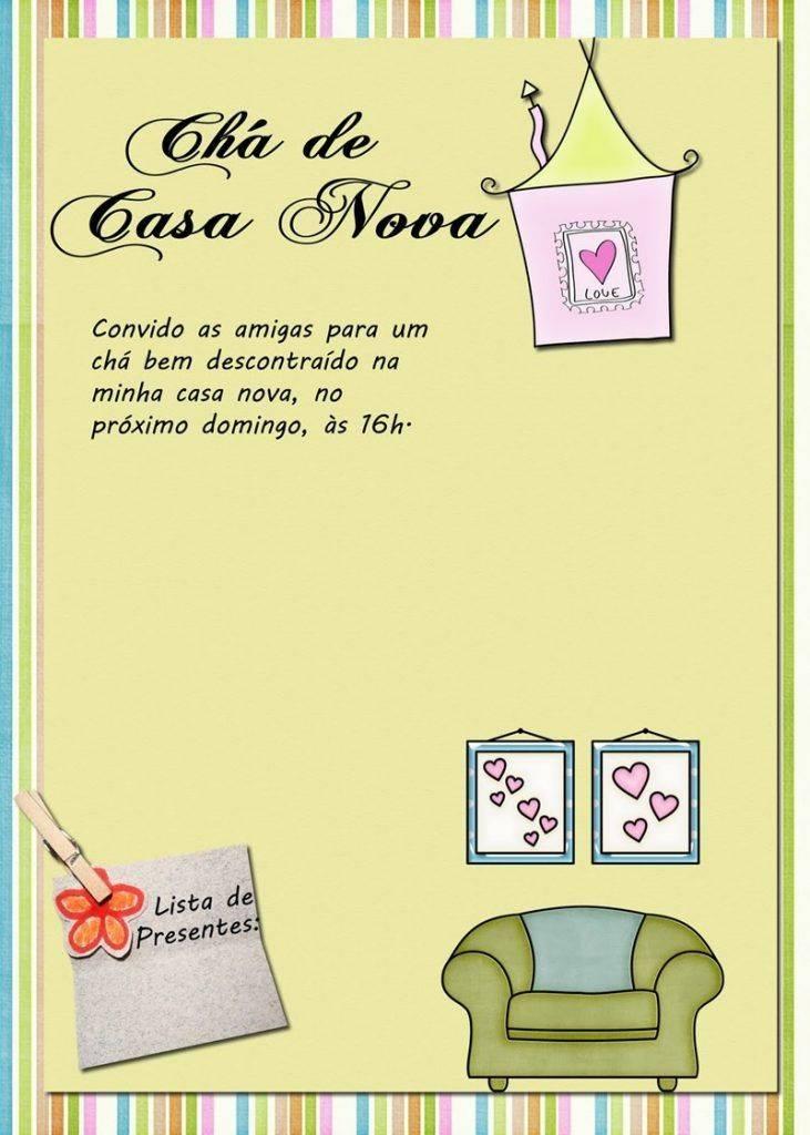 Convite Cha Casa Nova 2 Modelos De Convite