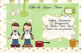 Convites para Chá de casa Nova