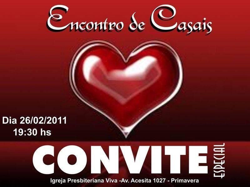 convite para encontro de casais  u2013 modelos de convite