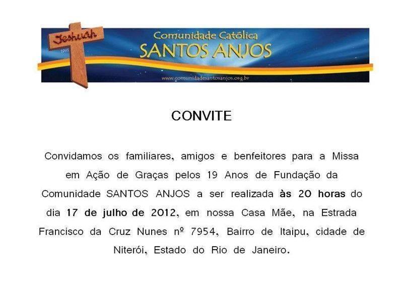 Convite missa ação de graças 4