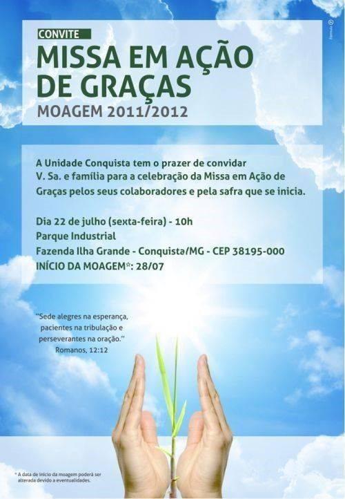 Convite missa ação graças 1
