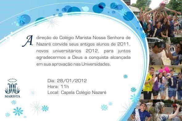 Convite missa ação graças 2