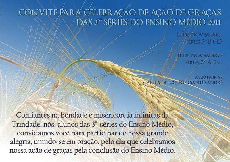 Convite missa ação graças 7