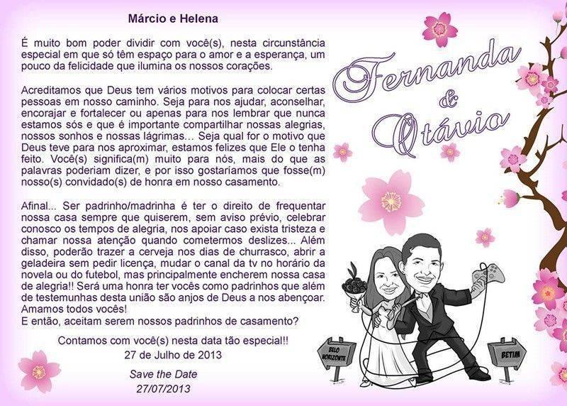 Convite padrinho casamento 8