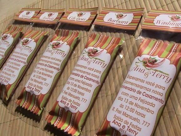 Convite para amigo chocolate