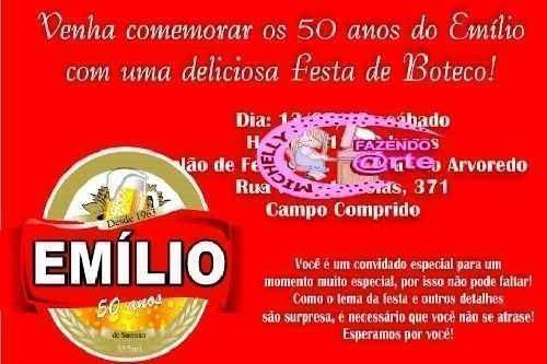 Convite De Aniversario Boteco Modelos De Convite