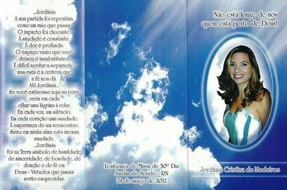 Convite de missa de 1 ano de falecimento