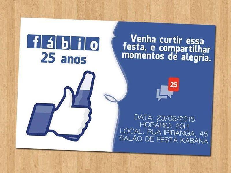 Excepcional Convite de aniversário Facebook – Modelos de Convite OU07
