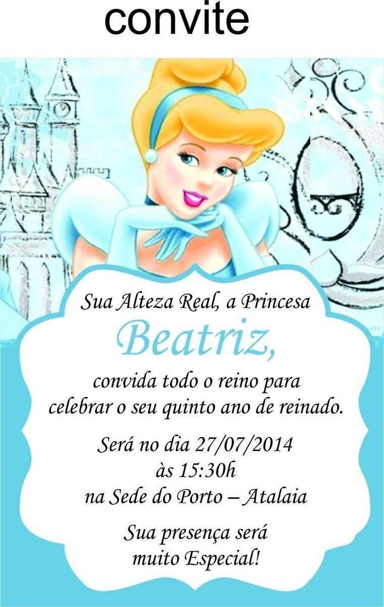 Convite De Aniversário Da Cinderela Modelos De Convite