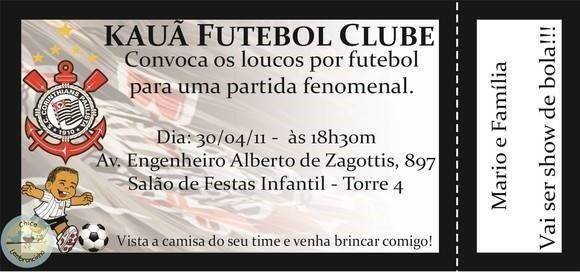 Convite De Aniversário Do Corinthians Modelos De Convite