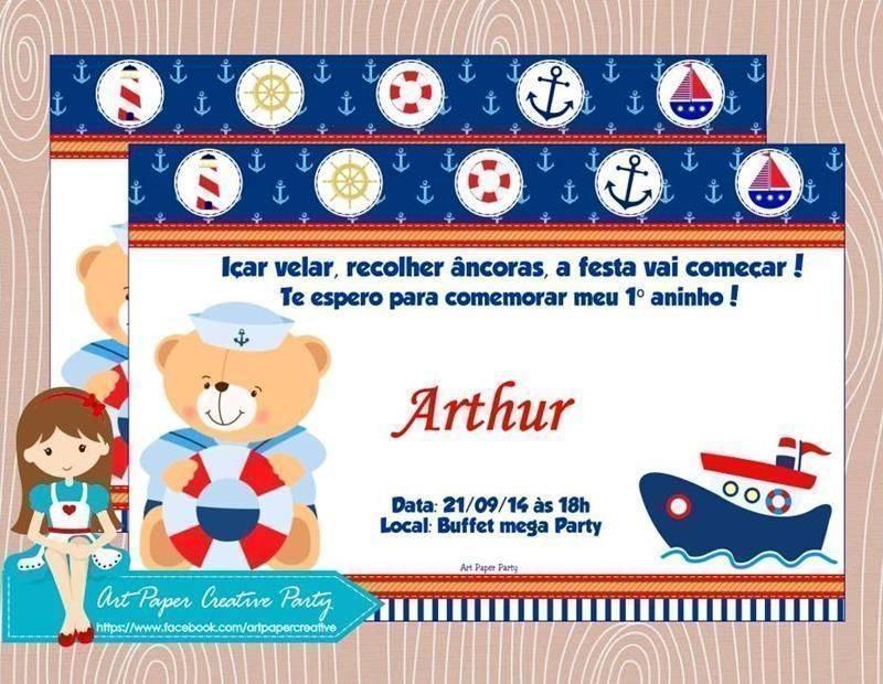 Muito Convite de chá de bebê marinheiro – Modelos de Convite SW58