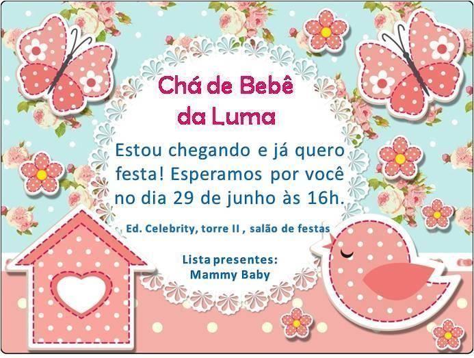 convite de ch de beb online modelos de convite