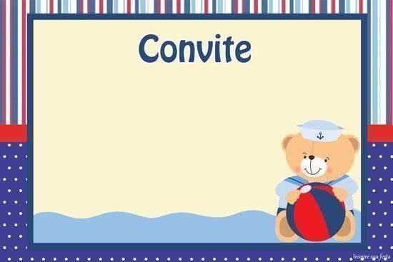 Convite de chá de bebê marinheiro