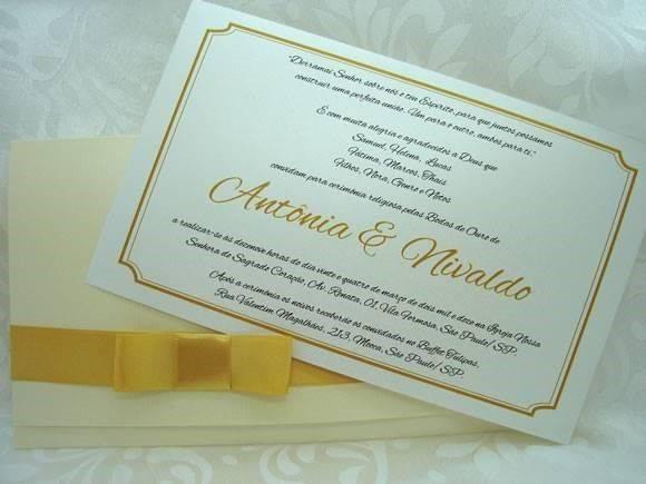 Convite De Bodas De Ouro Moderno Modelos De Convite