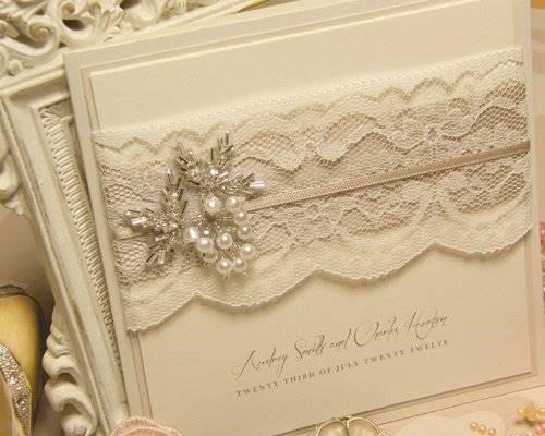 Convite de bodas de pérola