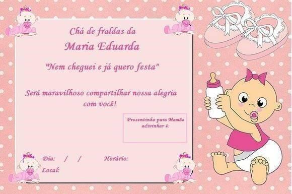Convite de chá de fralda online