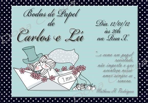 Convite de bodas de papel