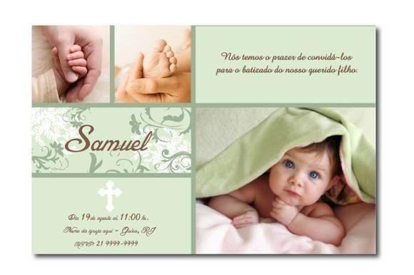 Convite de batizado com foto