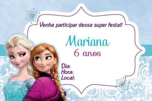 convite do frozen para imprimir 1 modelos de convite