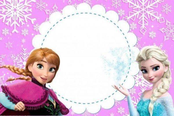Convite do Frozen para imprimir