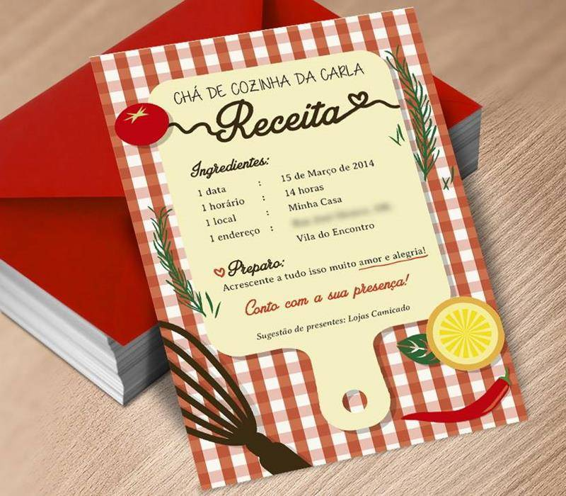 25 Convites Para Chá De Panela Ou Chá De Cozinha Modelos De Convite